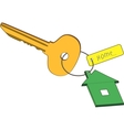 Key with trinket vector image