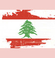 lebanon scratched flag vector image