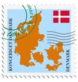 mail to-from Denmark vector image vector image