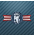 Memorial Day Sale realistic Badge and Ribbon vector image vector image