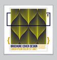 minimalistic brochure design web commerce or vector image vector image