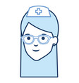 nurse with glasses avatar character vector image vector image
