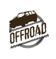 off-road logo image vector image