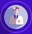 Otolaryngologist Doctor in white coat with frontal vector image