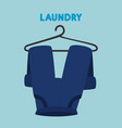 pants hanging laundry service vector image vector image