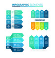 Perspective arrow infographic template elements a