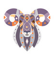 ram head logo goat decorative emblem vector image