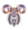 ram head logo goat decorative emblem vector image vector image