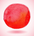 red watercolor paint circle vector image