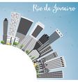 Rio de Janeiro Skyline with Gray Buildings vector image vector image
