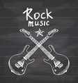 Rock Music Hand drawn sketch crossed guitars on vector image vector image