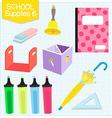 school supplies6 vector image vector image