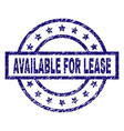 scratched textured available for lease stamp seal vector image