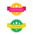 Set of certified stamp or seal sign isolated on