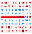 Set of Valentines Day stickers vector image vector image