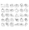 set shopping stickers icons vector image