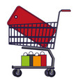 shopping cart symbol vector image vector image