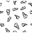 sneakers seamless pattern vector image vector image