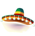 sombrero hat mexican hat on vector image
