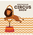 spectacular circus show design vector image vector image
