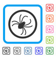 spider framed icon vector image vector image