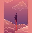 super business in cloudscape vector image vector image
