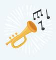 trumpet grunge icon vector image vector image