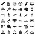 victory in war icons set simple style vector image vector image