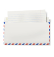 View of backside of opened DL air mail envelope vector image vector image