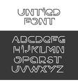 font alphabet set vector image