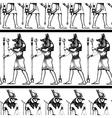 Egyptian hieroglyphics graphic seamless pattern vector image