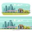 Modern House Cityscape Urban landscape vector image