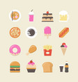 458fast food on food truck vector image
