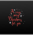 a very merry christmas to you banner on black vector image