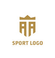 aa logo a a initial logo with crown elegant vector image vector image
