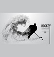 abstract silhouette of a hockey player vector image vector image