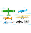agricultural aviation crop duster aircrafts vector image