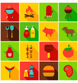 barbecue food colorful icons vector image vector image