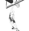 basketball players for designers vector image vector image