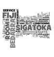 bedarra fiji sigatoka text word cloud concept vector image vector image