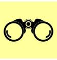 Binocular sign Flat style icon vector image