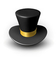black wizard cap with gold ribbon vector image