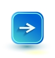 Blue web button with arrow right sign Rounded vector image vector image