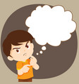 children boy thinking actions vector image vector image