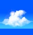 clouds against a bright blue sky vector image vector image