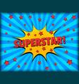 comic starry bright elegant concept vector image vector image
