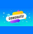 congrats speech bubble banner speech bubble vector image vector image