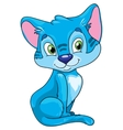 cute cat on a white background vector image vector image
