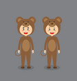 cute character wearing mouse costume vector image vector image