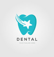 dental clinic logo tooth with star and clean vector image vector image
